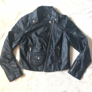 H&M faux leather bomber biker motorcycle jacket